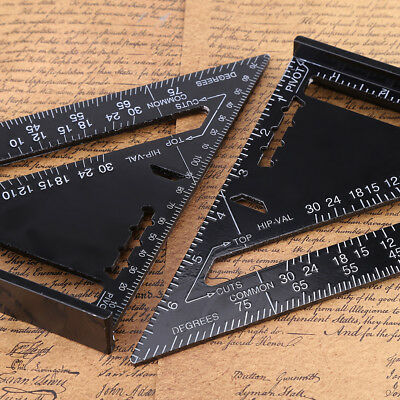 """7"""" Alloy Speed Square Rafter Triangle Angle Square Protractor Miter Ruler ark"""