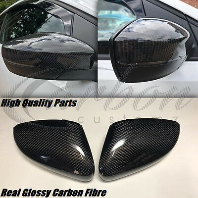 VW Polo 6R/6C Real Carbon Fibre Mirror Covers TDI GTI R-LINE 2011-2017 All Model