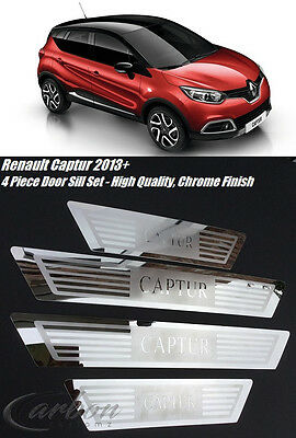 Renault Captur 4 Piece Stainless Steel Door Sill Scuff Protector Plates 2013 On
