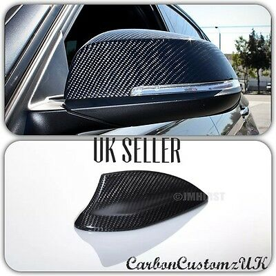 Bmw 3 Series 2012 On Carbon Fibre Door Mirror Covers + Shark Roof Fin Cover