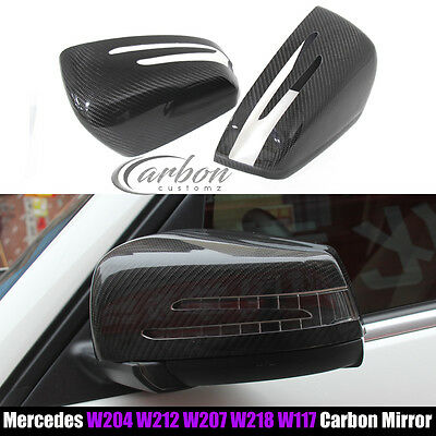 Mercedes Benz AMG A45 W204 A250 C63 CLS63 ADD ON Carbon Fibre Wing Mirror Covers