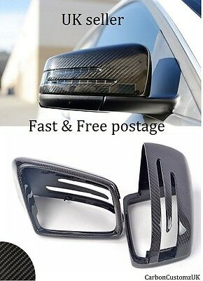 New Mercedes Benz C-Class W204 - E-Class W212 10-14 Carbon Fibre Mirror Covers