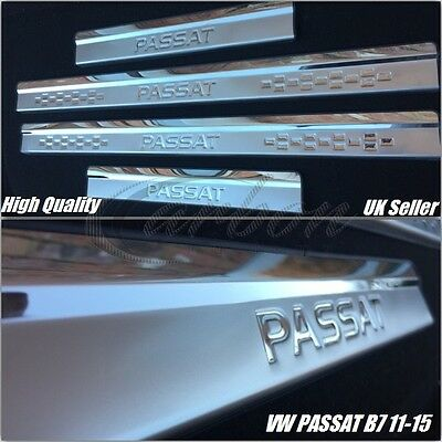 VW Passat B7 2011-2015 stainless Steel Door Sill Scuff Plate Protector Set