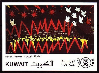 Kuwait 1991 ** Bl.3 Gemälde Paintings Invasion