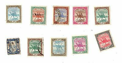 SUDAN Postage Stamps VINTAGE / ANTIQUE Piastres CAMEL - ARMY Loose ON SHEETS