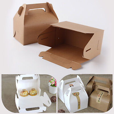 10pcs Paper Gable Boxes Candy Cake Box Wedding Shower Birthday Party Gift Bag