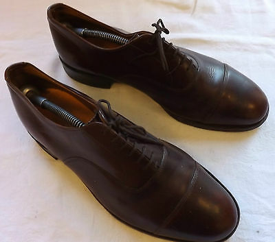 A Pair Of Vintage Men's Tanned Shoes Leather Boots Made By Avalon 1980's (2412)