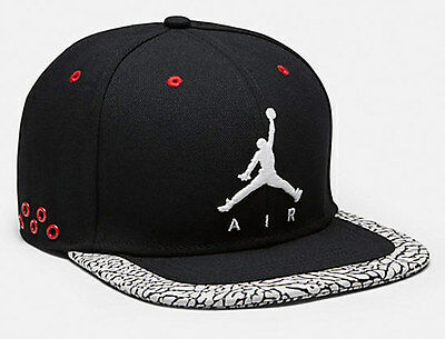 NIKE AIR FLIGHT MICHAEL JORDAN CAP HAT ELEPHANT BLACK JUMPMAN  *YOUTH* not adult