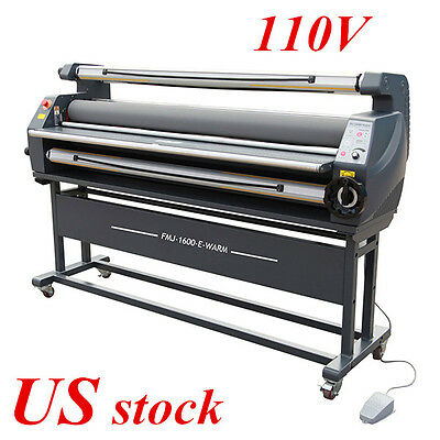 """US Stock, 63"""" Luxury Heat Assisted Cold Laminator, Full Auto Wide Format Machine"""