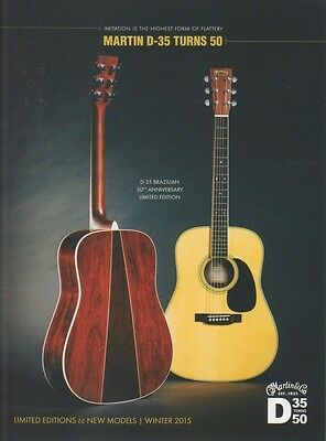 Martin Guitars Brochure USA Limited Editions and New Models Catalog 2015