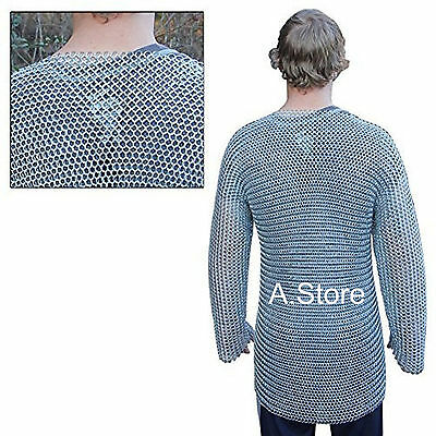Collectible Medieval Knights Full Sleeve Hauberk Armor Chainmail Large Shirt