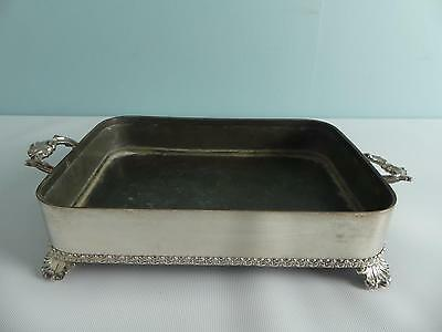 (ref165BX) Antique Old Silver Plated Sheffield Plate Dish Maker DS