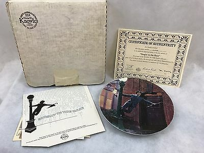 Vintage Edwin M Knowles SINGING IN THE RAIN Limited Edition Collector's Plate