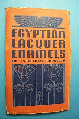 1935 Advertising Brochure with Samples EGYPTIAN LACQUER ENAMELS, New York, NY