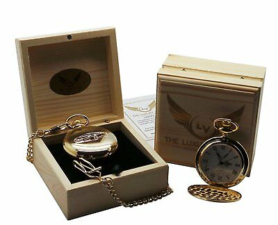Lamborghini Aventador Pocket Watch coated in 24 Carat Certified Gold Luxury Gift
