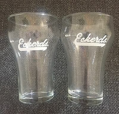 Vintage Libbey Eckerds Drug Store Soda Fountain Float Glasses - Set of 2
