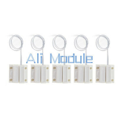 1/5Pairs White MC-38 Wired Door Window Sensor Magnetic Switch Home Alarm System