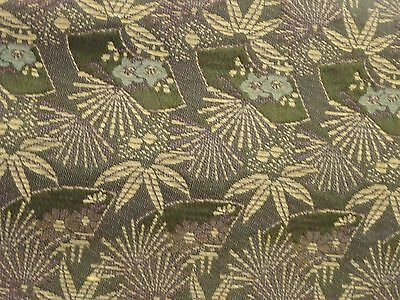Antique Meiji Era Maru Obi for Kimono - Plums, Mums, Bamboo, Pine, and Fans