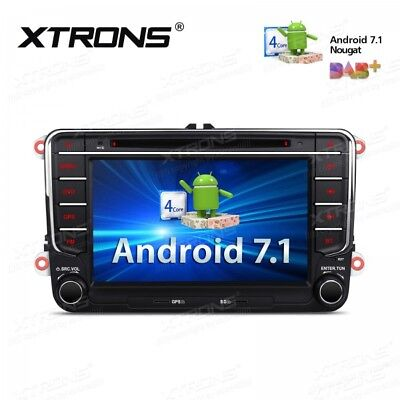 android 7 1 volkswagen navi autoradio dvd gps passat golf 5 6 touran skoda seat eur 312 56. Black Bedroom Furniture Sets. Home Design Ideas