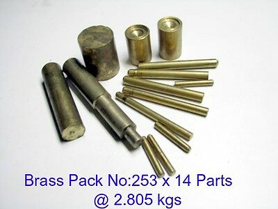 Brass Pack No:253 x 14 Parts--Steam-Lathe-Mill-Model-OG