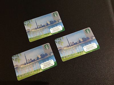 Starbucks Toronto Gift Card  - Lot Of 3 Pcs. ----- New --- For Collectible