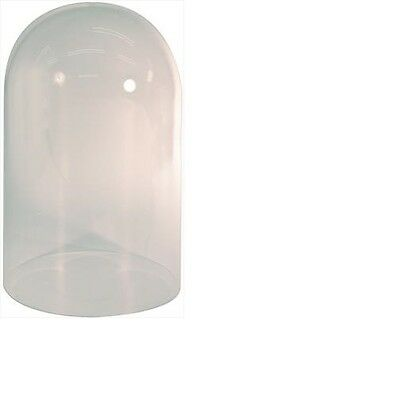 Perspex Plastic Dome 400 Day Clock Taxidermy Display Domes 260 x 142mm - CD239P