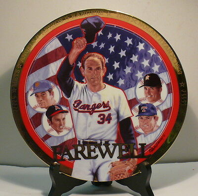 "Nolan Ryan Plate Collection >> Farewell >> Sports Impressions >> 8"" Plate"