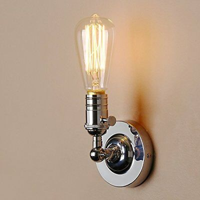 Lightess Wall Sconce Lights Vintage Industrial Edison Pipe Chrome Wall Lamp D...