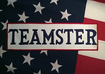 VINTAGE 1950's 1960's TEAMSTERS  Large Embroidered Back Of Jacket Patch
