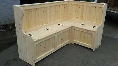 Corner church pew Monks Bench. 4ft x 4ft  (Any size made )