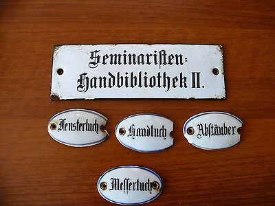 porcelain NAME signs door  -WWII Wehrmacht  original--1231