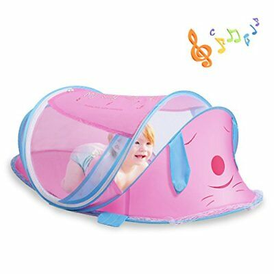 Portable Baby Travel Bed with Music Mosquito Net Foldable Infant Tent Baby Sl...