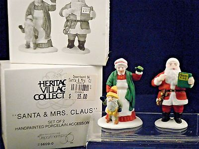 "Retired Department 56 North Pole Village ""Santa & Mrs. Claus""  56.56090  NEW"