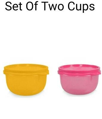 Tupperware Tropical Cups Round Shape 250 Ml Set of 2 Original NEW