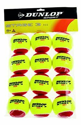 Dunlop Stage 3 Red Mini Tennis Balls - 12 Pack