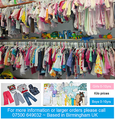 55kg bales of kids summer clothes age 0-12 years, Grade A great for export