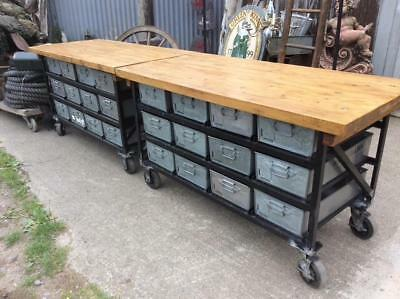 the industrial Counter/Store Unit on Wheel's.