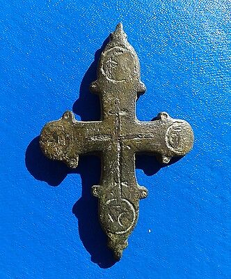 Ancient Bronze Cross-encolpions. 9th to the mid-14th century. Big !!!