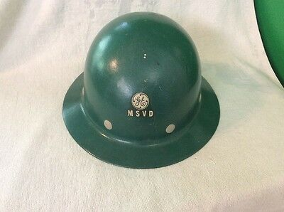 Superglas Safety Hat, U.S.A. Fribe Metal ,  Chester P.A General Electric.