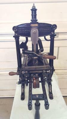 Albion Iron Hand Press with Frisket Tabletop Letterpress Washington Vandercook