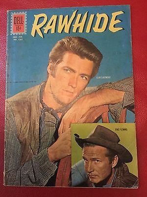 Four color comics #1261 Rawhide Clint Eastwood Photo cover! 1962 Nice! Rare!