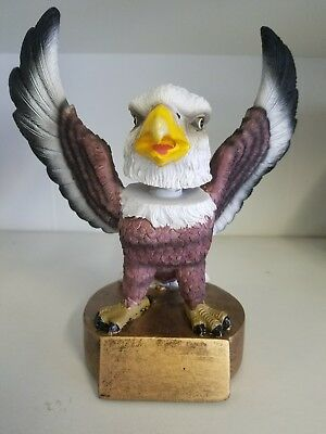 American eagle bobblehead w/ personalized engraved plate