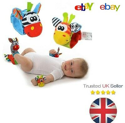 Rattles Wrist Donkey Zebra Wrist Rattle and Socks toys 0-12 months Newborn Play