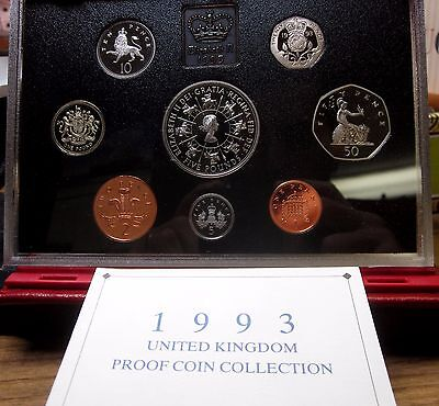 1993 Great Britain Proof Set ✪ Original Red Box ✪ United Kingdom Uk 8 ◢Trusted◣