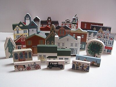 Vintage Collection of 25 Cat's Meow Village Pieces. See list below.