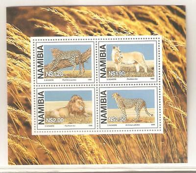 1998  Namibia  Sg  Ms 786 -  Wild Animals - Cats -   Umm