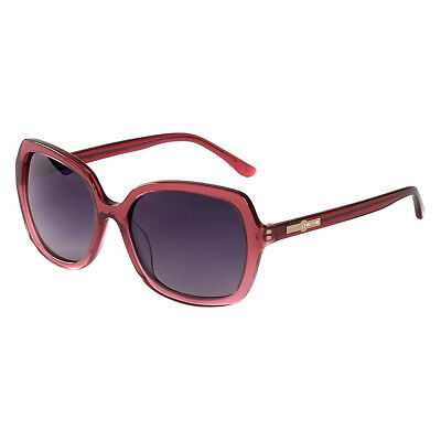 Hang Ten Women's Gold The Laguna Sunglasses Transparent Burgundy Stardust/Smoke