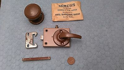 Newell Eze Latch Screen Door Storm Lock Vintage NOS