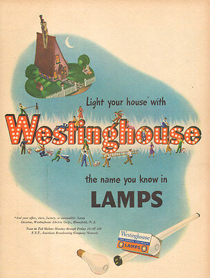 1947 vintage Ad Westinghouse Lamps Light Bulbs Light your House !   090216
