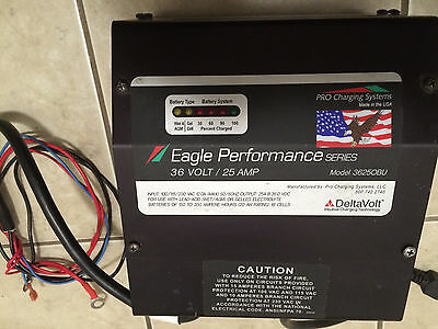 Battery, Charger, 36 volt, 25 amp, Eagle Performance, Golf Cart, Forklift Ect, #